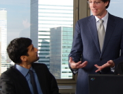 man performing management consulting