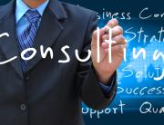 man writes management consulting