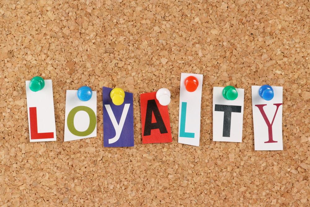 sign representing customer loyalty