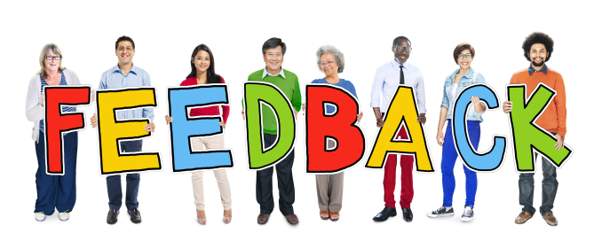 people hold feedback system sign